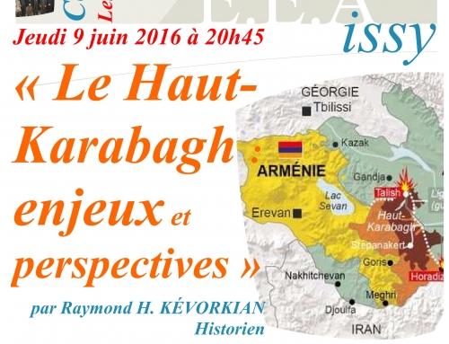 20160609 – Le Haut-Karabagh : Enjeux et Perspective – Raymond KEVORKIAN
