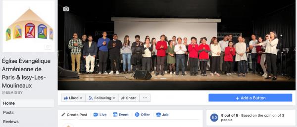 Facebook - Église Évangélique Arménienne - Issy-les-Moulineaux