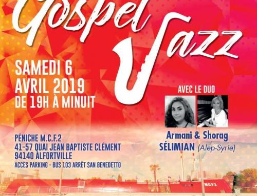 Dîner-Concert Gospel Jazz à Alfortville – 6 Avril 2019