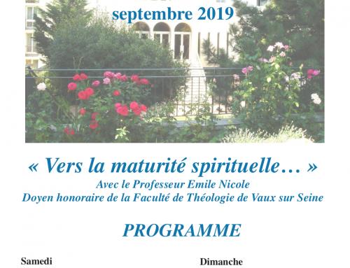 Formulaire d'inscription – Retraite d'église 2019