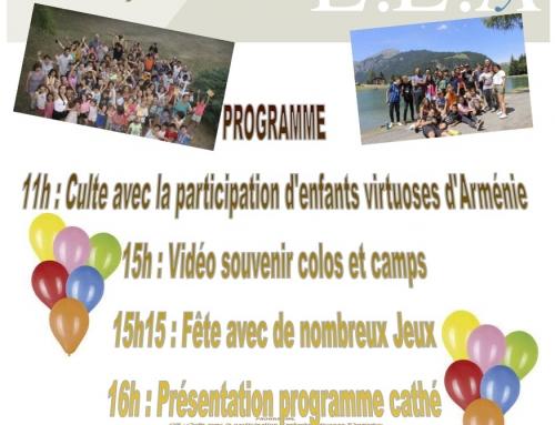 Fête des enfants – Retrouvailles Camps & Colos – La Source & La Fontanelle