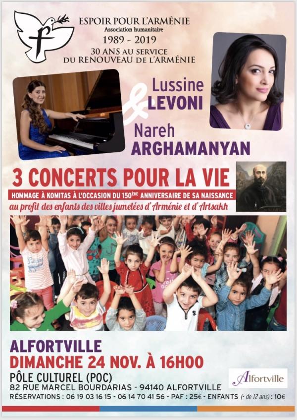 Concert Espoir pour l'Arménie - 30 ans
