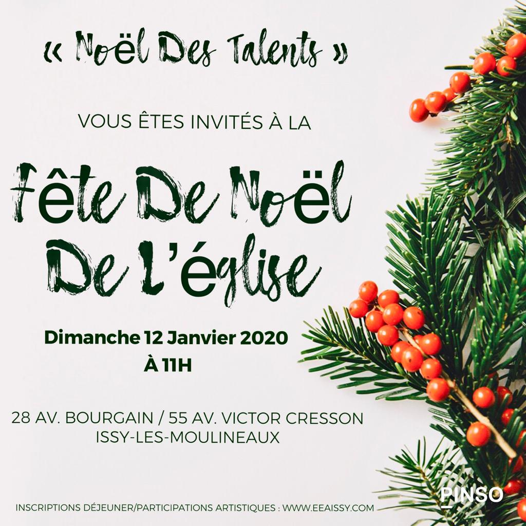 Inscription – Repas-Spectacle « Noël des Talents »