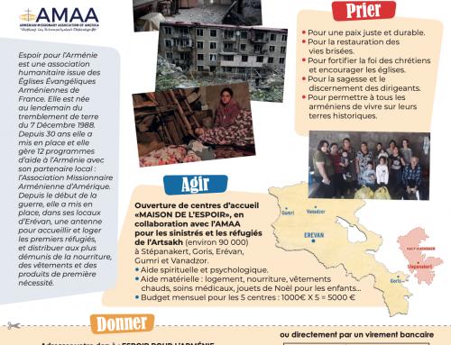 Aide en ligne «Urgence Arménie» – Urgence Artsakh – Un peuple à l'agonie