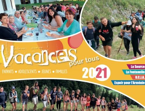 Brochure des activités des associations de notre Union d'églises – 2021